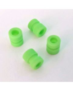 Green Soft-mount grommet set (M4 to M3)